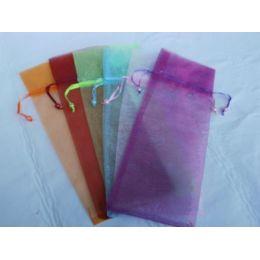 Organza Säckchen in sechs Farben, 34 x 13 cm