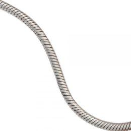 Schlangenkette Edelstahl 45 cm Halskette Kette Karabiner