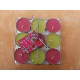 Teelichter in Frühlingsfarben 9 Stück