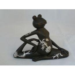 Yoga-Frosch BI in Schwarz und Weiß
