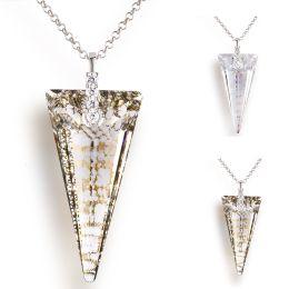 Großer Anhänger Swarovski® Kristall Spike mit Crystal Patina Effekt, 925 Silber Rhodium