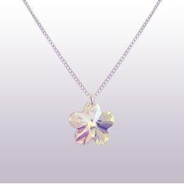 Kinderkette 925 Silber mit Swarovski® Kristall Blumen Anhänger