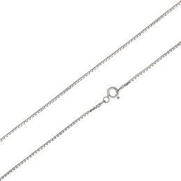 Kinderkette Venezianerkette diamantiert 1,1mm aus 925 Silber Rhodium kurze Kette 38cm