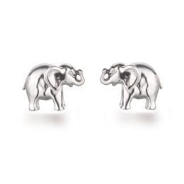 Ohrstecker Elefant Motiv 925 Silber Rhodium Ohrringe für Kinder Mädchen