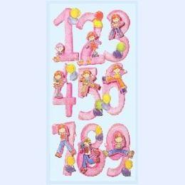 3 D Zahlen Sticker