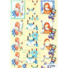 3D A4 Bogen Baby
