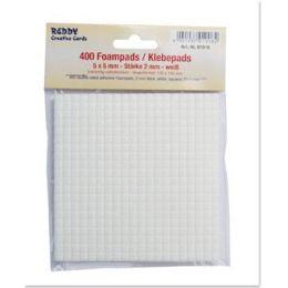 3D Klebepads Foampads, weiß, 2mm  Größe:5 x 5 mm