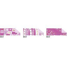 5 Blatt Transparentpapier Glory brombeer einseitig bedruckt Motiv 1