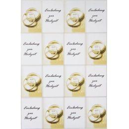 A4 Crea motions Doppelringe Einladung zur Hochzeit 220g geprägt