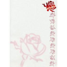 A4 Designpapier Rosenkopf 5 Blatt