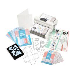 Big Shot Plus Starter Kit  2015 weiß / grau A4 Maschine + viel Zubehör