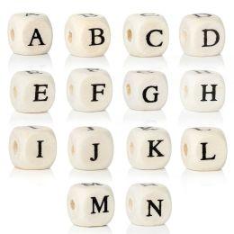 Buchstabenwürfel bedruckt 10mm A-Z, Holz
