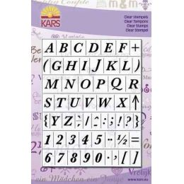 Clearstamp Alphabet Baskerville Gross 14X18CM