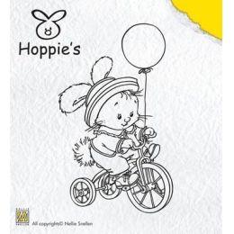 Clearstamp Hoppie´s Hase fährt Fahrrad