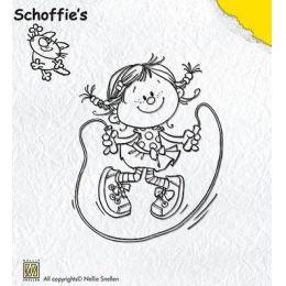 Clearstamp Schoffie springt Hüpfseil