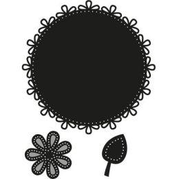 Craftables Circle & flower - stitch CR1248 Marianne Design