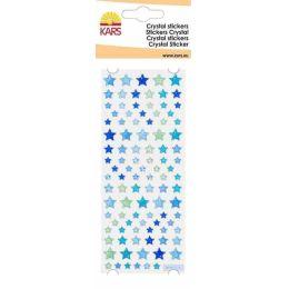 Crystal Sticker Stern klein blau 8X24CM / 1 Bogen