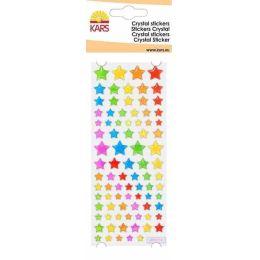 Crystal Sticker Stern klein Mix 8X24CM / 1 Bogen
