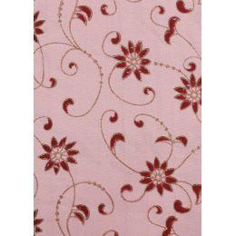 Deko-Stoff Blumendesign bordaux