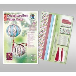 Designstreifen Paper Balls Set Jolly Christmas