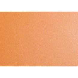Doppelkarte DIN lang metallic,  orange