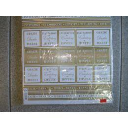 Edel Scrapbookpapier Martha Steinmeyer Danke Einladung 30,5x30,5 cm