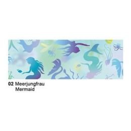 Extra starkes Transparent Papier 50 x 61 cm , Fauna, 115 gr, Motiv 02 Meerjungfrau