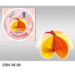 Faltblatt, Origami, Kusudama 10 cm rund gelb-orange-rot Farbvariation