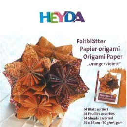 Faltblätter, Origami, Kusudama 15 x 15 cm