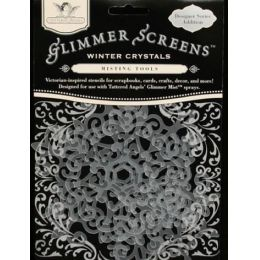 Glimmer screens winter crystals / 3 ST