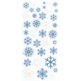 Glitter Sticker Schneeflocken The winter combo / 1 Bogen