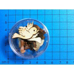 Holz fliegender kleiner Vogel 30 mm in Dose ca. 10 Stück