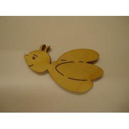 Holz Kleinteile gelasert Biene
