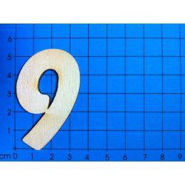 Holz Kleinteile Zahlen 50MM