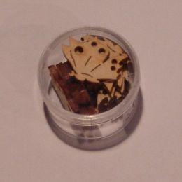 Holz Schmetterling Seitenansicht 30 mm in Dose ca. 11 Stück