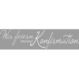 Holz Schriftstempel Konfirmation, 3x10 cm