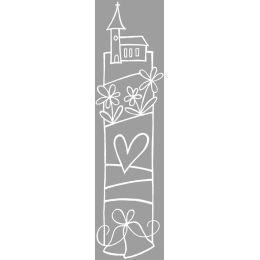 Holz Stempel Hochzeitsglocken, 4x12cm
