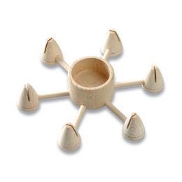 Holz Teelichthalter rund, natur