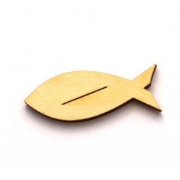 Holz Tischkartenhalter Fisch