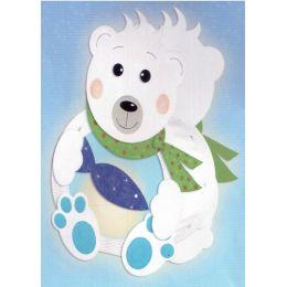 Laternen Bastel-Set rund Eisbär
