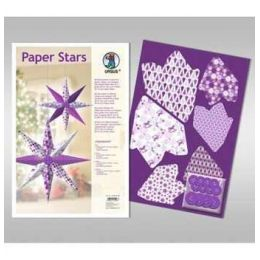 Paper Stars in lila Impression