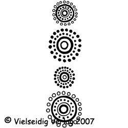 Pünktchen Kreise  3x10 cm