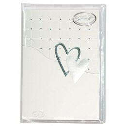 Quadrate und zwei Herzen 6 Einladungskarten / 6 Kuvert / 6 Einleger