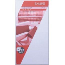 S-Line 5 Karten quadratisch Farbe: weiss