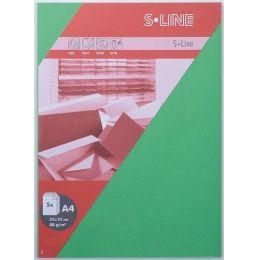 S-line A6 Karte, passendes Kuvert und Briefbogen je 5 Stück - grass
