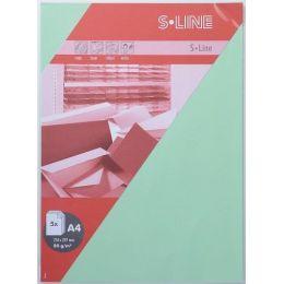 S-line A6 Karte, passendes Kuvert und Briefbogen je 5 Stück - linde
