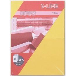 S-line A6 Karte, passendes Kuvert und Briefbogen je 5 Stück - sonnenblume