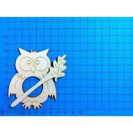 Schalhalter Eule 12 cm und 8 cm