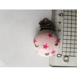 Schnuller Clip rosa mit Sternen
