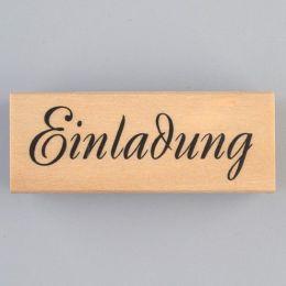 Schriftstempel Einladung Holzstempel